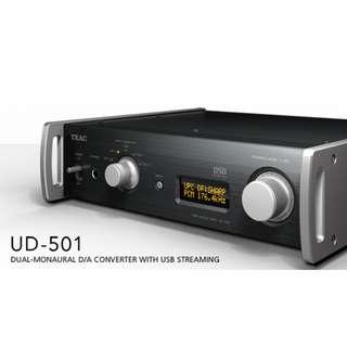Teac UD-501 Dual Monaural DAC, DSD 5.6MHz / PCM 384kHz capable