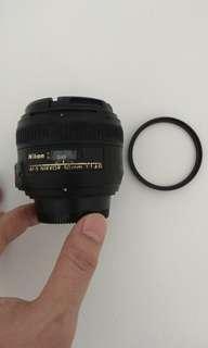 Nikon 50mm f1.4G + BW filter