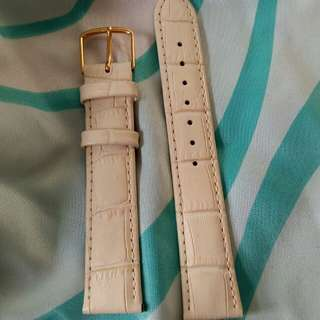 18mm特別米白色名牌錶帶