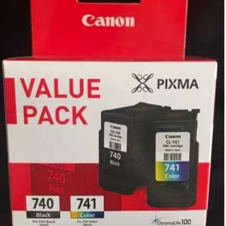 Canon printer Ink 740 741 value pack