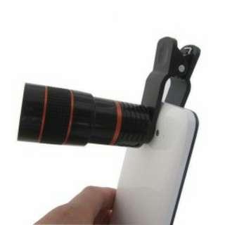 Mobile Phone Telescope Lens Black