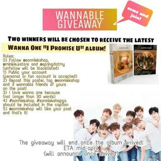 [ GIVEAWAY ] Wanna One I Promise You