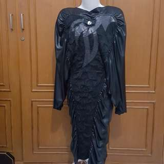 French batwing dress