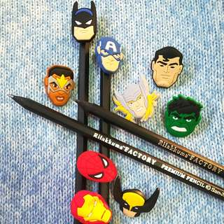DC Marvel Avengers Heroes Pencil/Ballpen Charms