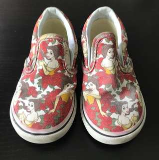 Vans Belle Beauty & The Beast Shoes 3 years old
