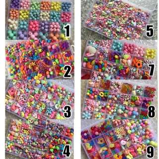 Handmade colorful DIY creative beads accessories children
