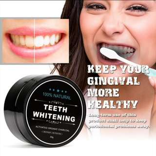 INSTOCK Teeth Whitening Activated Charcoal Powder Jar