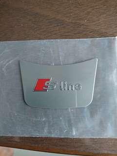 S line metal steering wheel sticker for Audi