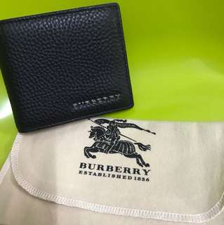 Burberry荔枝皮短夾(outlet購入