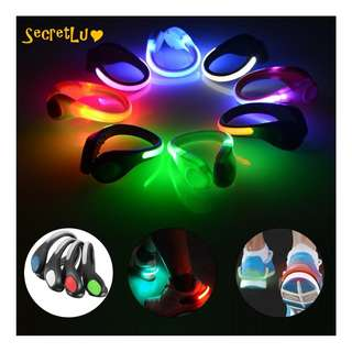 [BRAND NEW] [Quality] Night Safety Outdoor Sports LED Bright Light Shoe Clip for Walking Running Cycling
