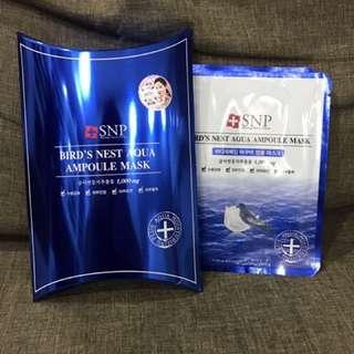 SNP Bird Nest's Aqua Ampoule Masks