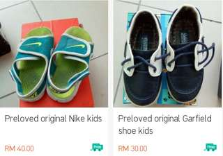 Original preloved boy shoes adidas nike