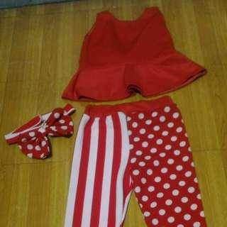 Polka and stripes terno w/turban