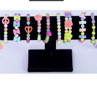 Handmade colorful DIY creative beads accessories necklace ring bracelet keychain hairband children