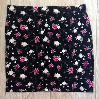 Supre Women's Pink Floral Black Body con Pencil Skirt [AU10]