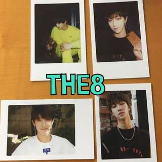 ON HAND OFFICIAL PHOTOCARD 17 THE8  - DIAMOND EDGE 4 SET