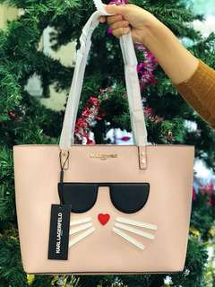 Karl Lagerfeld Cat Face Tote