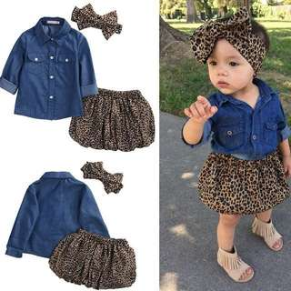 SET LEOPARD 3in1 (with headband)