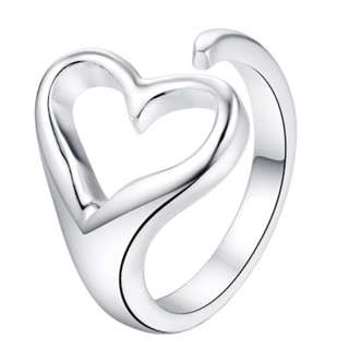 Women Adjustable Silver Ring