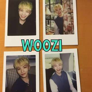 ON HAND OFFICIAL PHOTOCARD 17 WOOZI - DIAMOND EDGE 4 SET