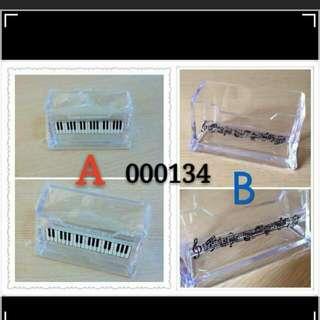 音樂音符鋼琴keyboard 樂譜圖案卡片座 music piano score name card stand / holder , 有兩款