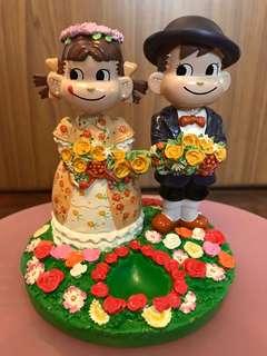 牛奶妹牛奶仔結婚版陶瓷擺設