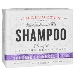 J.R. Liggett's Old Fashioned Bar Shampoo Tea Tree & Hemp Oil, 3.5 oz (99 g)