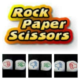 Rock, Paper, scissor dice