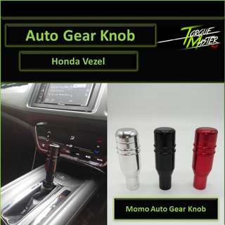 Honda Vezel Gear Knob . Auto Gear Knob with Button . Momo Design . Black Red Silver .