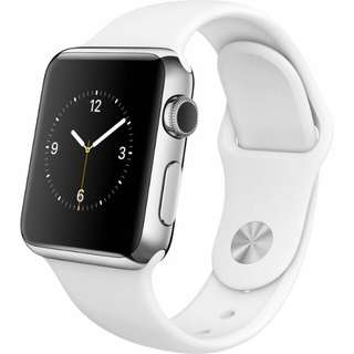 Apple watch 38 mm stainless steel silver strap sport