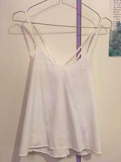white swing cami