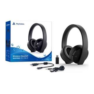 New Gold Wireless Headset Ps4