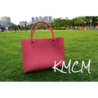 KMCM搶眼多色手提袋