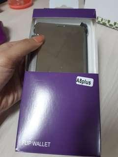 Case HP samsung A8 plus (Flip Wallet)
