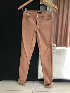Massimo Dutti Skinny Fit Brown Pants (Size XS)