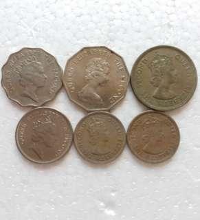 幾枚女皇頭錢幣