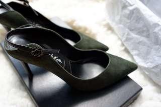 Charles & Keith Suede Slingback Heels