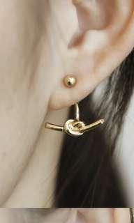 Camelia knot earrings