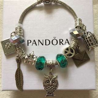 Pandora Inspired bracelet Harry Potter Slytherin