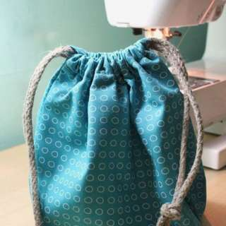 MARCH WORKSHOP: HOW TO SEW A DRAWSTRING BAG