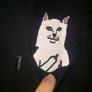 RIPNDIP Lord Nermal Cat T-Shirt Small Size 8-10