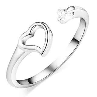 Women Adjustable Silver Ring