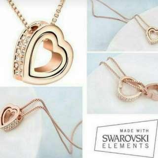 Romantic Heart 18K Rose Gold Necklace