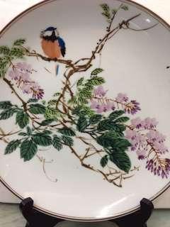 Porcelain-唐山陶研所花鳥盘D25cm(翁小川)