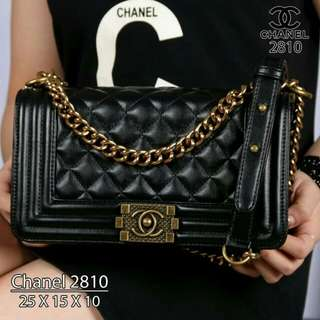 CH*N*L  Boy Hardware Classic 2810  &  CHANEL Maxi Double Flap Hardware Rainbow Lambskin Leather 1627  (04)*