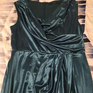 Torquoise Roman style dress