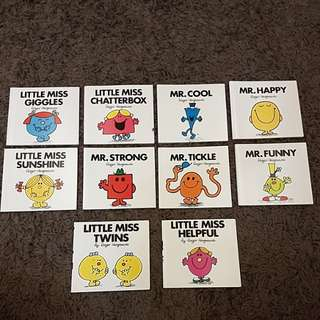 BN Assorted Mr Men & Little Miss Books