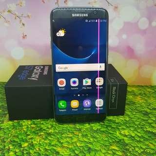 Samsung Galsxy S7 Edge Single Black Fullset Minus LCD Garis