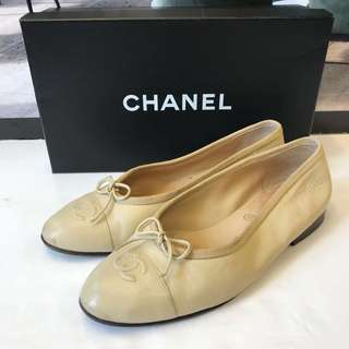 清貨Chanel Leather Flat Shoes