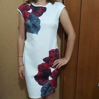 Scuba White Dress
